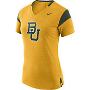 Nike Women's Baylor Bears Gold/Green Fan V-Neck T-Shirt
