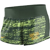 Nike Women's Baylor Bears Green Crew Performance Shorts