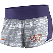 Nike Women's Clemson Tigers Grey/Regalia Crew Performance Shorts