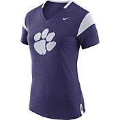 Nike Women's Clemson Tigers Fan Regalia/White V-Neck T-Shirt