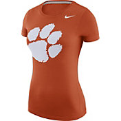 Nike Women's Clemson Tigers Orange Logo T-Shirt