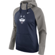 Nike Women's UConn Huskies Grey/Blue Tailgate All Time Performance Hoodie