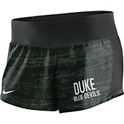 Nike Women's Duke Blue Devils Black Crew Performance Shorts
