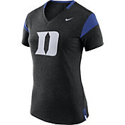 Nike Women's Duke Blue Devils Black/Duke Blue Fan V-Neck T-Shirt