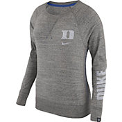 Nike Women's Duke Blue Devils Grey Vintage Crew Sweatshirt