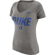 Nike Women's Duke Blue Devils Grey Tri-Blend V-Neck T-Shirt