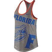 Nike Women's Florida Gators Grey Dri-Blend Gear Up Racerback Tank