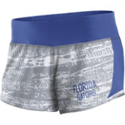 Nike Women's Florida Gators Grey/Blue Crew Performance Shorts