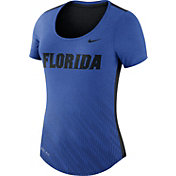 Nike Women's Florida Gators Blue Dri-Blend Scoop Neck T-Shirt