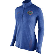 Nike Women's Florida Gators Heathered Blue Stadium Element Performance Half-Zip