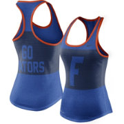 Nike Women's Florida Gators Blue Dri-Blend Mesh Racerback Tank Top