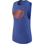 Nike Women's Florida Gators Blue Logo Muscle Performance Tank Top