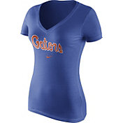 Nike Women's Florida Gators Blue Wordmark V-Neck T-Shirt