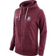 Nike Women's Florida State Seminoles Heathered Garnet Tailgate Gym Vintage Full-Zip Hoodie