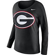 Nike Women's Georgia Bulldogs Tailgate Black Long Sleeve Shirt