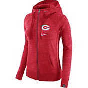 Nike Women's Georgia Bulldogs Red Vintage Full-Zip Hoodie