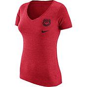 Nike Women's Georgia Bulldogs Red Flash Bomb Hook V-Neck T-Shirt