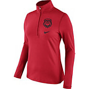 Nike Women's Georgia Bulldogs Red Tailgate Dry Quarter-Zip Shirt