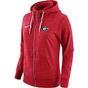 Nike Women's Georgia Bulldogs Heathered Red Tailgate Gym Vintage Full-Zip Hoodie