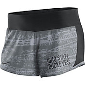 Nike Women's Ohio State Buckeyes Gray/Black Crew Performance Shorts