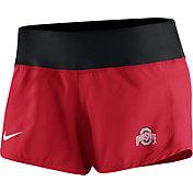 Nike Women's Ohio State Buckeyes Scarlet Gear Up Crew Performance Shorts