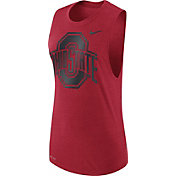 Nike Women's Ohio State Buckeyes Scarlet Logo Muscle Performance Tank Top