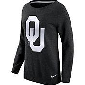 Nike Women's Oklahoma Sooners Champ Drive Boyfriend Crew Black Sweatshirt