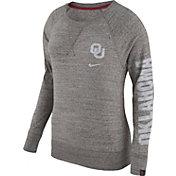 Nike Women's Oklahoma Sooners Grey Vintage Crew Sweatshirt