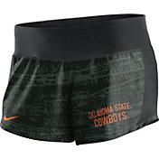 Nike Women's Oklahoma State Cowboys Black Crew Performance Shorts