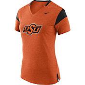 Nike Women's Oklahoma State Cowboys Fan Orange/Black V-Neck T-Shirt