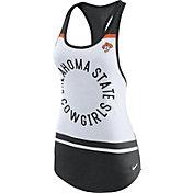 Nike Women's Oklahoma State Cowboys White/Black Circle Dri-Blend Tank Top