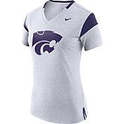 Nike Women's Kansas State Wildcats White/Purple Fan V-Neck T-Shirt