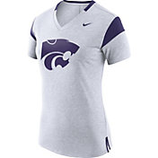 Nike Women's Kansas State Wildcats White/Purple Fan V-Neck T-Shirt