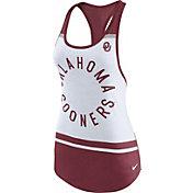 Nike Women's Oklahoma Sooners White/Crimson Circle Dri-Blend Tank Top