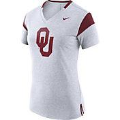 Nike Women's Oklahoma Sooners White/Crimson Fan V-Neck T-Shirt
