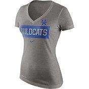 Nike Women's Kentucky Wildcats Grey Dri-Blend Tailgate V-Neck T-Shirt