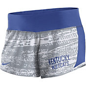 Nike Women's Kentucky Wildcats White/Blue Crew Performance Shorts