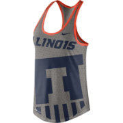 Nike Women's Illinois Fighting Illini Grey Dri-Blend Gear Up Racerback Tank