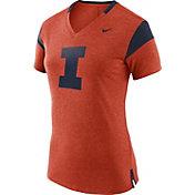 Nike Women's Illinois Fighting Illini Orange/Blue Fan V-Neck T-Shirt