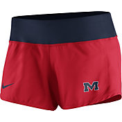 Nike Women's Ole Miss Rebels Red Gear Up Crew Performance Shorts