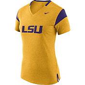 Nike Women's LSU Tigers Gold/Purple Fan V-Neck T-Shirt