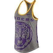 Nike Women's LSU Tigers Grey Dri-Blend Gear Up Racerback Tank