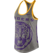 Nike Women's LSU Tigers Grey Dri-Blend Gear Up Racerback Tank