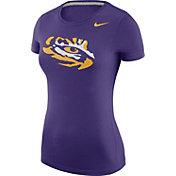 Nike Women's LSU Tigers Purple Logo T-Shirt