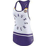Nike Women's LSU Tigers White/Purple Circle Dri-Blend Tank Top