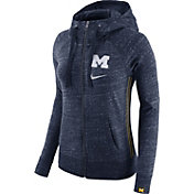 Nike Women's Michigan Wolverines Blue Vintage Full-Zip Hoodie