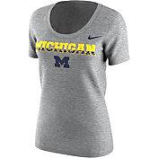 Nike Women's Michigan Wolverines Grey Free Trainer 2.0 Hook T-Shirt