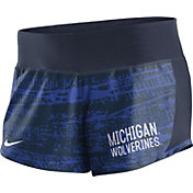 Nike Women's Michigan Wolverines Blue Crew Performance Shorts