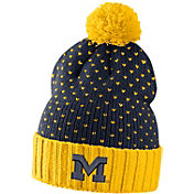 Nike Women's Michigan Wolverines Blue/Maize Local DNA Beanie