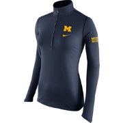 Nike Women's Michigan Wolverines Blue Tailgate Element Half-Zip Shirt